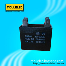 Cbb61 Metallized Polypropylene Film Capacitor for AC Motor